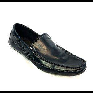 Steve Madden Black Leather Loafer